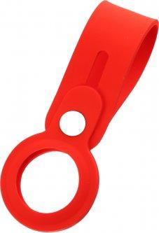 Чехол-брелок ArmorStandart Silicone Loop with Button для Apple AirTag Red (ARM58925)