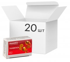 Набор кнопок Axent омедненных 20 пачек по 50 шт (4202-A) (4250266252057)