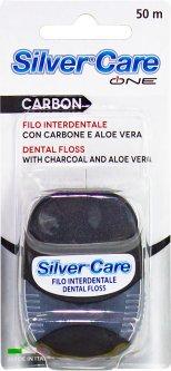 Зубная нить Silver Care Carbon 50м (8009315069025)