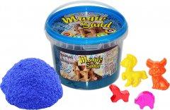 Кинетический песок Strateg Magic sand Голубой + 4 формочки 0.5 кг (371-2) (4820175997792)