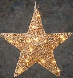 Звезда декоративная Luca Lighting диаметр 30 см 30 led Шампань (8718861662658)