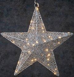 Звезда декоративная Luca Lighting диаметр 40 см 50 led Серебристая (8718861683103)