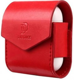 Кожаный чехол Dux Ducis для Apple AirPods Red (6934913096697)
