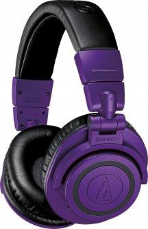 Наушники Audio-Technica ATH-M50xBTPB Black-Purple