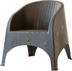 Кресло Violet House Роттанг Coffee Olivya, 68х77х80 см (0838 Роттанг COFFEE OLIVYA 68*77*80 см)