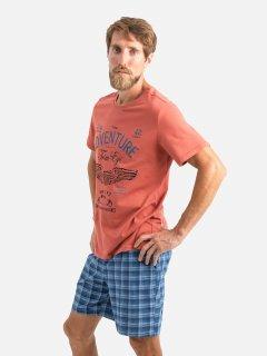Комплект (футболка + шорты) ROZA 210201 XL Кирпичный (4824005624391)