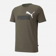 Футболка Puma ESS+ 2 Col Logo Tee 58675944 XL Grape Leaf (4064533090569)