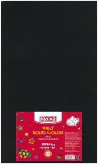 Набор фетра Maxi 50 х 30 см Листового Черного 10 шт (MX61623-01)