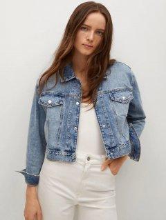 Джинсовая куртка Mango 17050107-TM S Синяя (8445306767929)