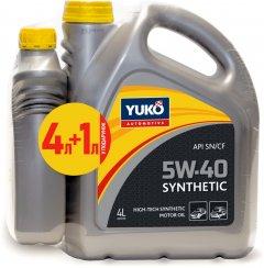 Моторное масло Yuko Synthetic 5W-40 4 л + 1 л (4820070241167_stock)