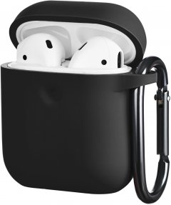 Чехол 2Е для Apple AirPods Pure Color Silicone 3.0 мм Black (2E-AIR-PODS-IBPCS-3-BK)