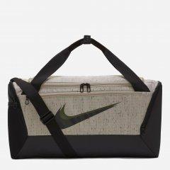 Спортивная сумка Nike Nk Brsla S Duff-Mtrl SP21 CU9653-210 Серая с черным (195237061532)