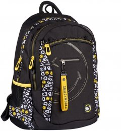 Рюкзак YES T-121 Smiley World.Black&Yellow черный унисекс 20 л (552511)