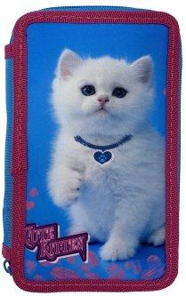 Пенал Class Cute Kitten 2 отделения пустой (21405C/8591662214055)
