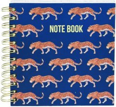 Блокнот Home & Styling Collection 16х16 см 300 листов (MC1001490_blue leopard)
