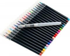 Акварельные кисточки Aikids Waterbrush Pen с красками 20 цветов + контейнер для воды 1 шт (AI-brush20+1)