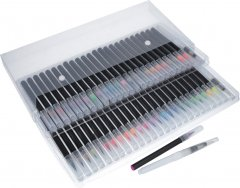 Акварельные кисточки Aikids Waterbrush Pen с красками 48 цветов + контейнер для воды 2 шт (AI-brush48+2)