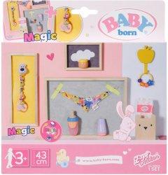 Набор аксессуаров для куклы Baby Born - Нежный уход с волшебной пустышкой (830826)