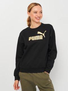 Свитшот Puma ESS+ Metallic Logo Crew 58689301 M Puma Black-Gold (4063699358667)