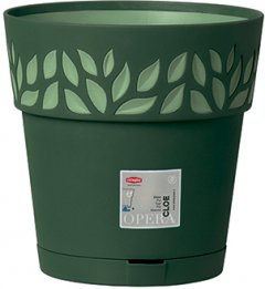Вазон круглый Stefanplast Opera Cloe 25 х 25 х 25 см Темно-зеленый/светло-зеленый (94102)