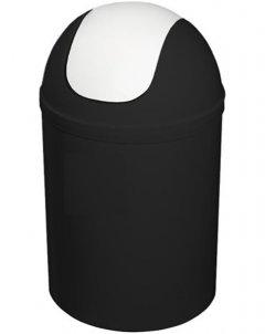 Ведро для мусора Bisk 5л черно-белое (07545)