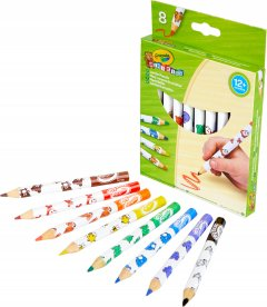 8 цветных карандашей Crayola из красного дерева (3678) (5010065036789)
