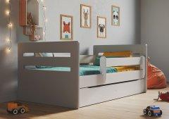 Детская кровать Kocot Kids Tomi Mix с ящиком 160х80 см Серая (5903271987405)