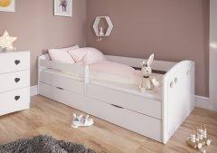 Детская кровать Kocot Kids Julia с ящиком 160х80 см Белая (5903282030275)