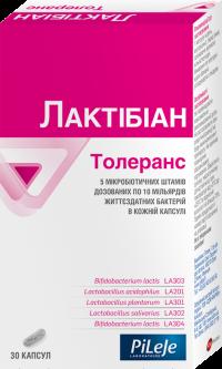 Диетическая добавка PiLeJe Лактибиан Толеранс пробиотик 30 капсул (3401560504996)
