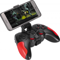 Беспроводной геймпад XTRIKE GP-45 Android/PS3/PC D-input & X-input Black/Red (GP-45)