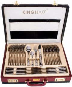Набір столових приладів KingHoff KH 3504 з нержавіючої сталі 72 елемента в подарунковому валізі