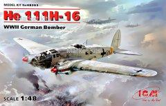 Німецький бомбардувальник He 111H-16, 2 МВ 1:48 ICM (ICM48263)