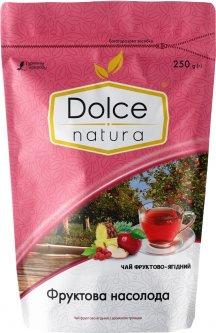 Чай фруктово-ягодный с ароматом розы Dolce Natura Фруктовое наслаждение 250 г (4820093482608)