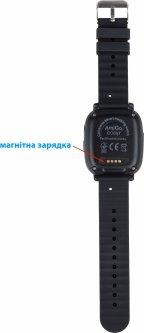 Детские смарт-часы AmiGo GO001 Swimming Camera+LED Black (dwswgo1b)