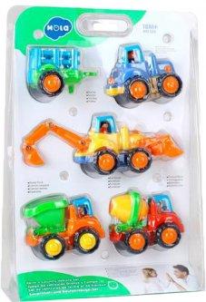 Набір іграшкових машинок Hola Toys Фермерська техніка, 4 шт (326) (6944167132669)