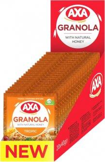 Упаковка гранолы AXA с тропическими фруктами 40 г х 20 шт (4820008129277)