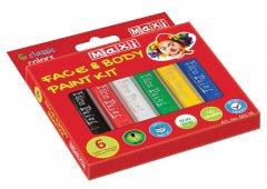 Набор красок для лица и тела MAXI в форме карандаша 6 цветов (MX60176)
