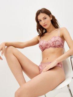 Бюстгальтер Calvin Klein Underwear Lightly Lined Bandeau (Spacer) QF6411E-JAH 32B Розовый (8719853920091)
