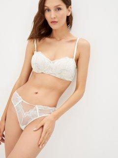 Бюстгальтер Calvin Klein Underwear Lightly Lined Bandeau (Spacer) QF6411E-JAI 32B Голубой (8719853923825)