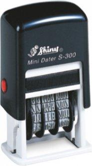 Мини-датер Shiny S-300 Рус. 3 мм черный корпус (471085030055254)