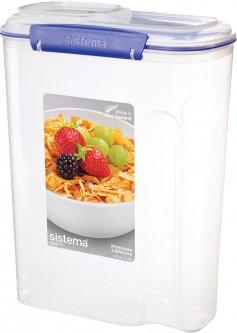 Емкость для хранения сыпучих продуктов Sistema Klip It Blue 4.2 л (1450)