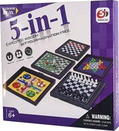 Настольная игра Qunxing Toys 5 в 1 (4812501165579)