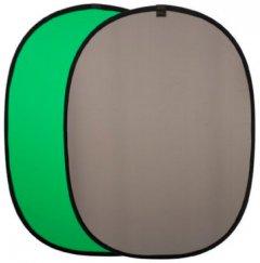 Фон тканевый Falcon на пружине 158х193 см (Chromakey Green-Gray)