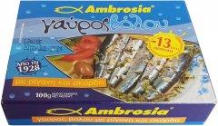 Анчоус в масле Ambrosia с орегано и чесноком 100 г (5201514001513)