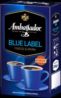 Кофе молотый Ambassador Blue Label 230 г (8719325224290)