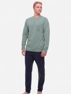 Комплект (лонгслив + штаны) ROZA 210544 3XL Серо-зеленый (4824005629341)