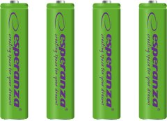 Аккумулятор Esperanza Ni-MH AAA 1000 мАч 4 шт Зеленый (EZA102G)