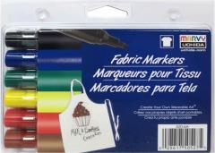 Набор маркеров Marvy Классические оттенки для росписи светлых тканей 6 шт (0028617505275)