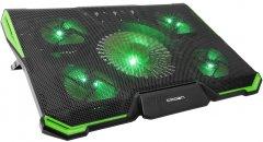 Охлаждающая подставка для ноутбука Crown CMLS-K332 Black/Green