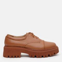Туфли LeoModa 21115/30 37 (24 см) Рыжие (LM_2000000003306)